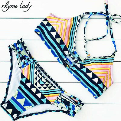 Rhyme Lady Bathing suit bikini set Push up Brazilian Swimwear women Swimsuit Low