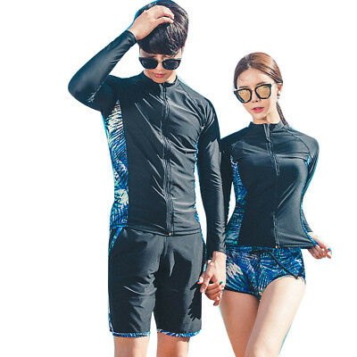 Rhyme Lady new arrival Long Sleeve Swimsuit couple Surfing Suits couple
