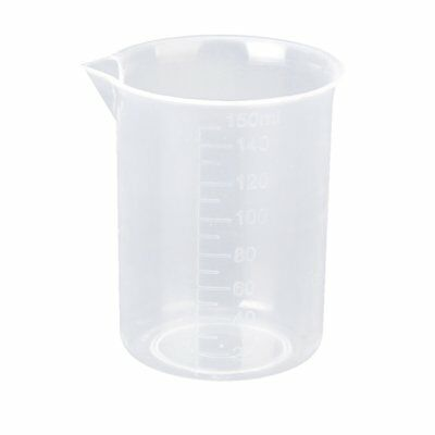 2X 150ml Kitchen Lab Test Plastic Graduated Measuring Beaker Cup Container BL