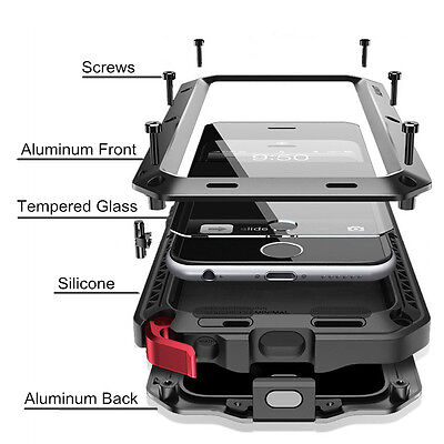 Heavy Duty Armor Shockproof Tough Hybrid Metal Anti Case For iPhone 5 6 7 8 Plus