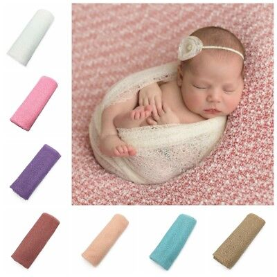 50*160cm Newborn Stretch  Wrap Photography Nubble Wraps Props Baby Kids Cozy