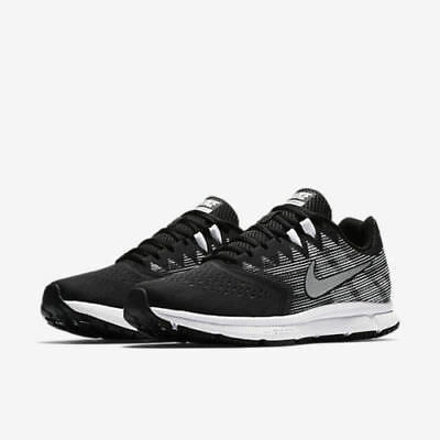 Nike ZOOM SPAN 2 Mens Black White Silver Athletic Running Shoes US Sizes