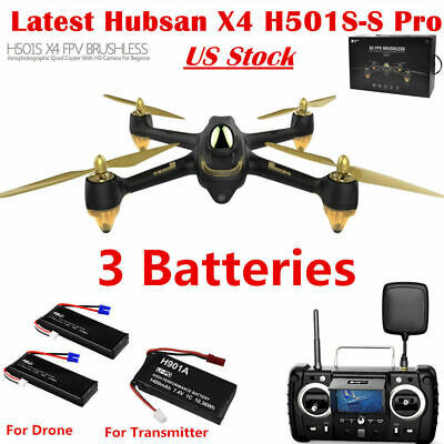 Hubsan H501S X4 Pro 5.8G FPV RC Drone Quadcopter 1080P Headless Follow Me GPS US