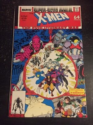"X-men Annual#14 Incredible Condition 9.4(1988) ""Evolutionary War"" Art Adams Art!"