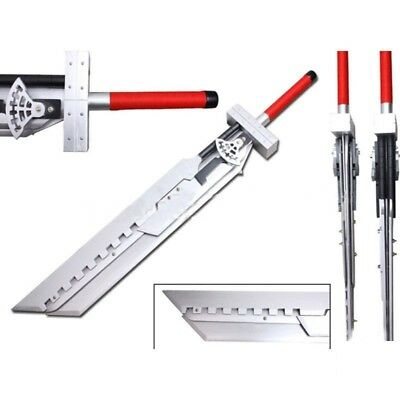 Final Fantasy 7 Cloud Buster Wooden Sword 51 Inches, Cosplay, Fancy Dress,