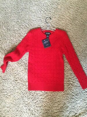 NWT Eland sz 6 years Red cable sweater