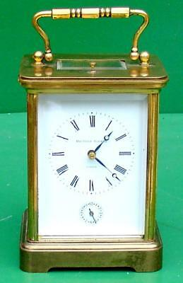 Matthew Norman 1751 Grande Corniche Striking Repeater Alarm 8 Day Carriage Clock