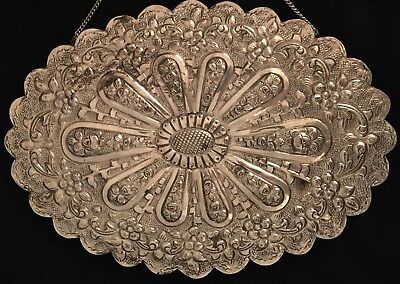Vintage 900 Silver Large Turkish handcrafted wedding mirror