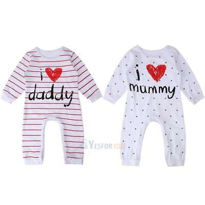 Newborn Romper Infant Baby Boys Girls Striped Jumpsuit Bodysuit Clothes Outfits