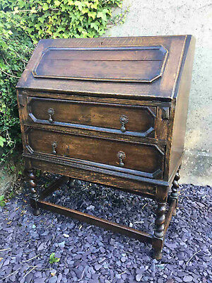 19th Century Oak Writing Bureau