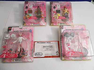 Pink Panther Action Figures Including White Tux Exclusive Signed W/certificate.