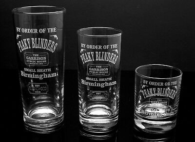 Peaky Blinders, Engraved Glasses - FREE UK Post