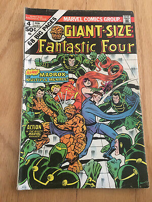 Giant-Size Fantastic Four #4 (Feb 1975, Marvel) VG/FIne 1st app Madrox multi man