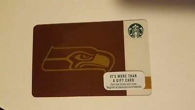 NEW 2017 Starbucks Seattle Seahawks Card