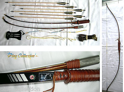 VINTAGE RARE GREEN HORN LONG BOW IMPERIAL detachable MADE IN BELGIUM