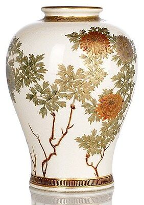 An antique Japanese Satsuma vase, by Kinkozan, Meiji period
