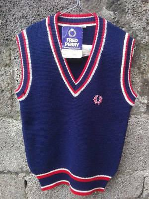 FRED PERRY gilet 70's maglia jersey pullover sweater vintage limited rare
