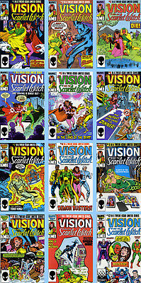 VISION AND THE SCARLET WITCH Vol.2 #s 1-12 ULTRON 1985-86 NM Marvel Direct Ed.