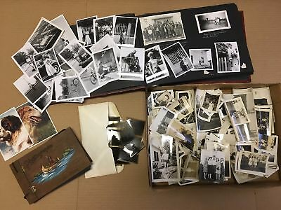 Huge Lot of Old 1920's - 30's Antique Vintage B&W Snapshot Photos