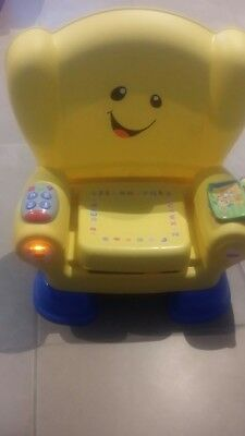 fisher price laugh and learn musical chair yellow
