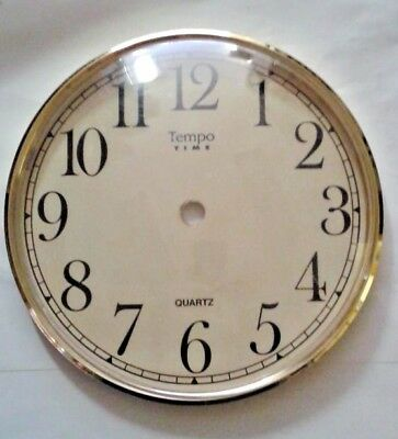 Mantel  clock dial-Bezel combination  with glass 160 mm