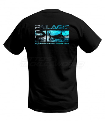 Pelagic Deluxe Logo Pattern Tee - Coral Camo Blue BRAND NEW @ Ottos Tackle World