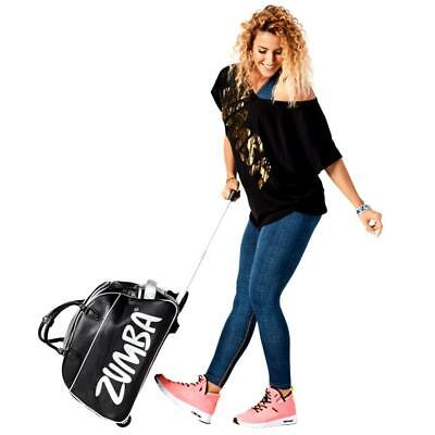 Zumba JUMBO Rolling Gym Bag Duffle~Tote Gym~Luggage! DURABLE Converts to CarryOn