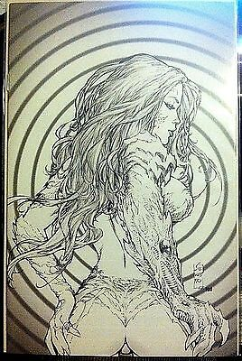 Witchblade #118 Sketch Cover (Fantastic Realm Edition)  2008 Nm