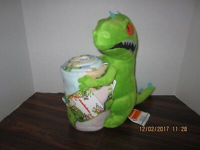 "Nickelodeon Cartoon REPTAR 40 x 50"" Super Plush Fleece Blanket &  Hugger  DOLL"