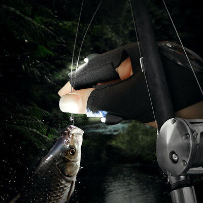 EDC Fishing Fingerless Glove LED Repair Flashlight Survival Outdoor Rescue Tool
