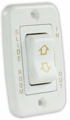 JR Products 12345 White Momentary Single Low Profile Slide-Out Switch