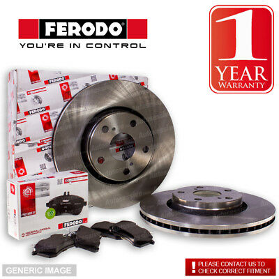 Ferodo Volvo V50 1.6 D 05- Front Brake Discs And Pads Set Fit Teves System