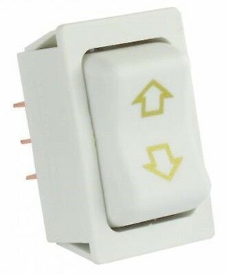 JR Products 12095 White Momentary Slide-Out High Current Motor Switch