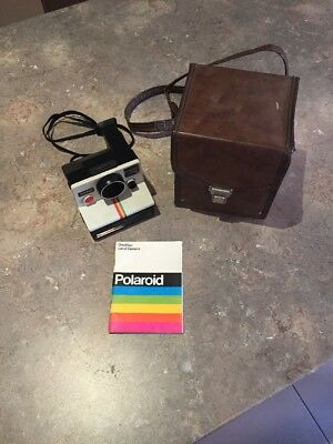 Polaroid OneStep Land Camera Authentic Instructions Leather Carry Case