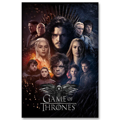 Game Of Thrones 7 TV Series Silk Poster Wall Art Prints 12x18 24x36 inch