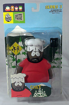 South Park Chef Action Figure Mirage Series 3 Toy 2004 NEW Sealed Comedy Central
