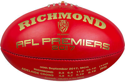 Richmond Tigers 2017 Premiers Limited Edition Sherrin Premiership Football