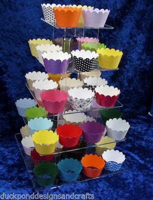 200 Cupcake wrappers - ready assembled - mixed colours - now only £7.50
