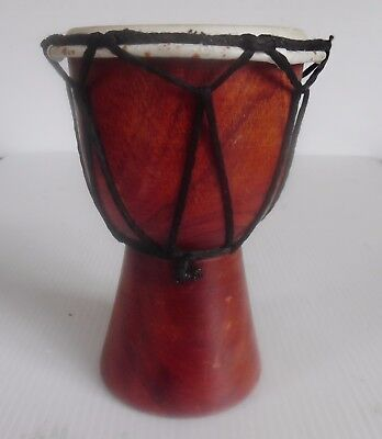 Djembe Hand Made Hand Drum  14 cm X 10 cm