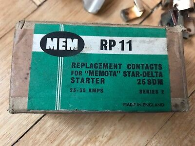 Mem RP11 Replacement Contacts for Memota Star Delta - 25SDM Series 2 25-35 Amps