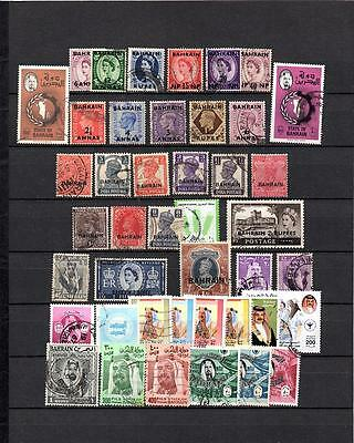 BAHRAIN  BRITISH COLONIES COLLECTION OF Used STAMPS Lot (BAH 402)