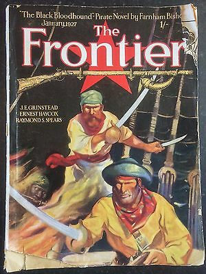 THE FRONTIER MAGAZINE - Jan 1927 - WESTERN & FRONTIER STORIES - Rare UK Edition