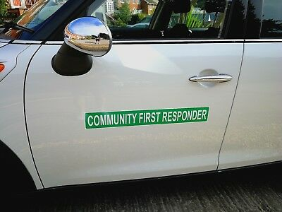 Community First Responder Magnet Magnetic Rescue Ambulance Paramedic 620mm