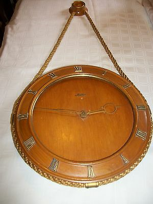 Antique (Early 1950s) Mauthe Wooden Wall Clock (Made in Germany) (Length 60 cm)