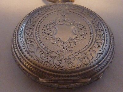 Antique English sterling silver pocket watch case