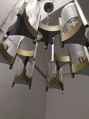 gaetano sciolari chandelier original design 60 70 lampadario lustre eur 225 00 picclick it. Black Bedroom Furniture Sets. Home Design Ideas
