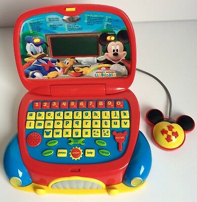 Disney Mickey Mouse Clubhouse Kids Laptop Learning Computer Toy Game Clementoni