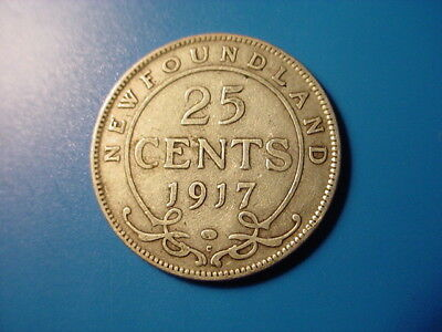 Newfoundland - Silver - 1917-C 25-Cents In Very Nice Condition
