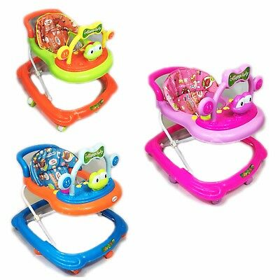 Baby Walker First Steps Activity Bouncer Musical Toy Push Along Ride On Frog