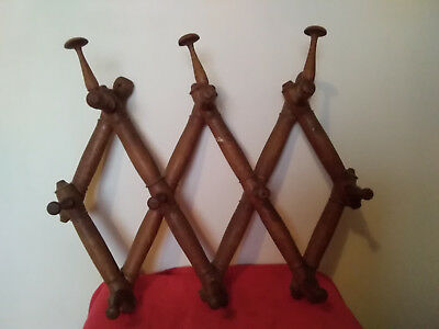 Antique old wooden folding wall hanger.